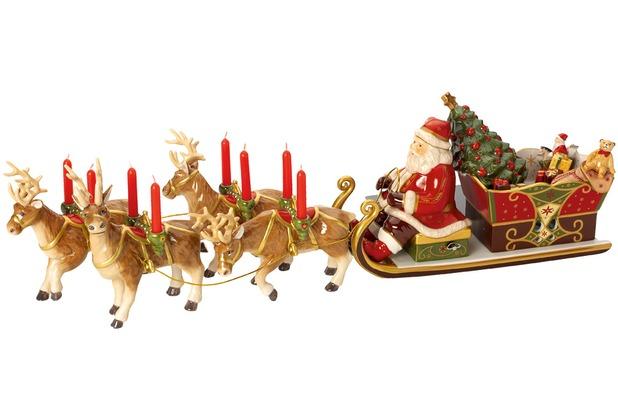 Villeroy & Boch Christmas Toys Memory Santa\'s Schlittenfahrt bunt