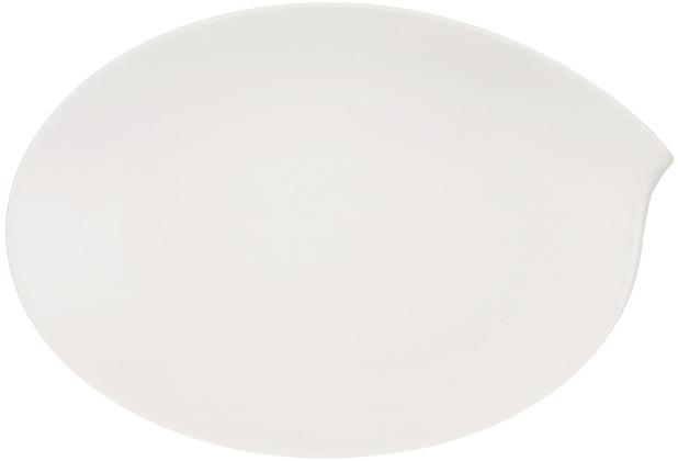 Villeroy & Boch Flow Platte oval weiß, klein