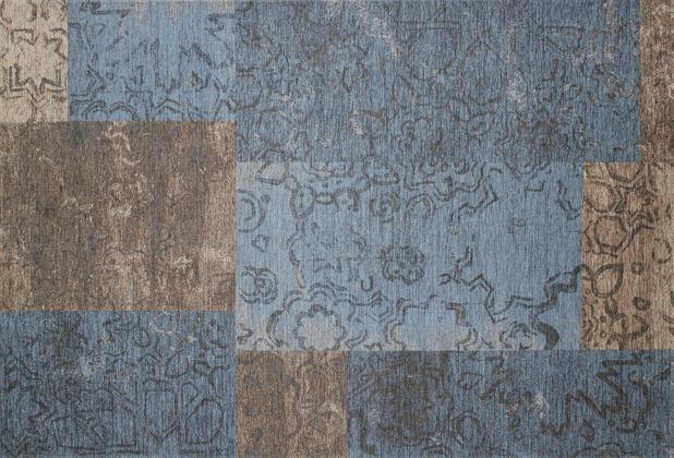 Kelii Patchwork-Teppich Colorado blau 60 cm x 90 cm
