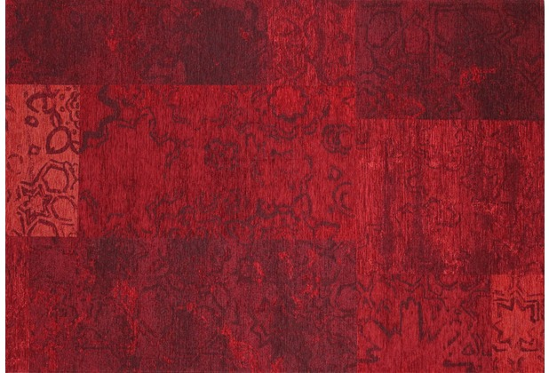 Kelii Patchwork-Teppich Colorado rot 60 cm x 90 cm