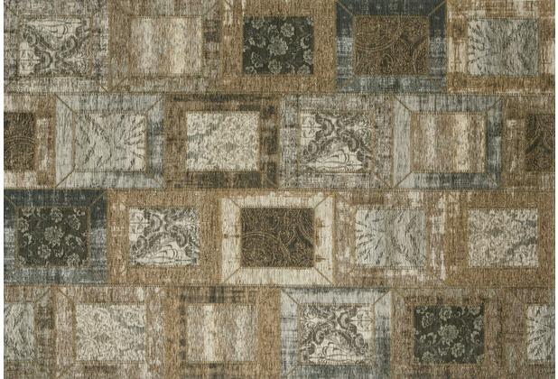 Kelii Patchwork-Teppich Montana taupe 80 cm x 150 cm