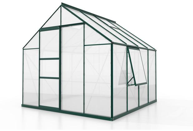 vitavia Gewächshaus Meridian 1 Hohlkammerplatte 4mm, smaragd 6,7 m²