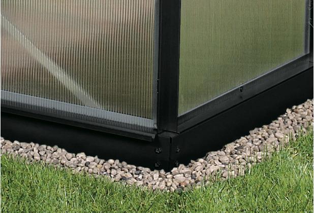 vitavia Gewächshauszubehör Fundament, 6cm, schwarz 3800