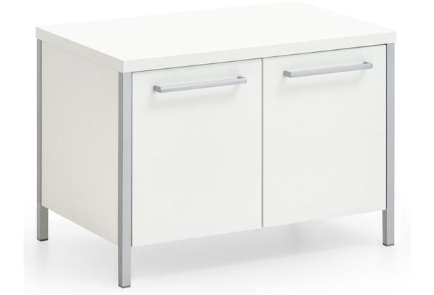 Voss Möbel Garderobenbank Limana Lack weiß, klein