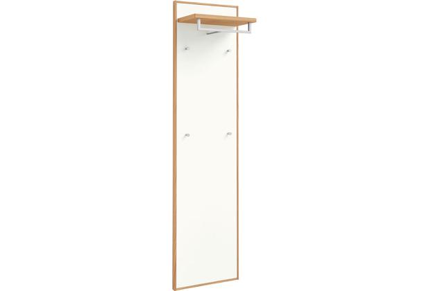 Voss Möbel Garderobenpaneel V 100 Eiche weiß, länglich