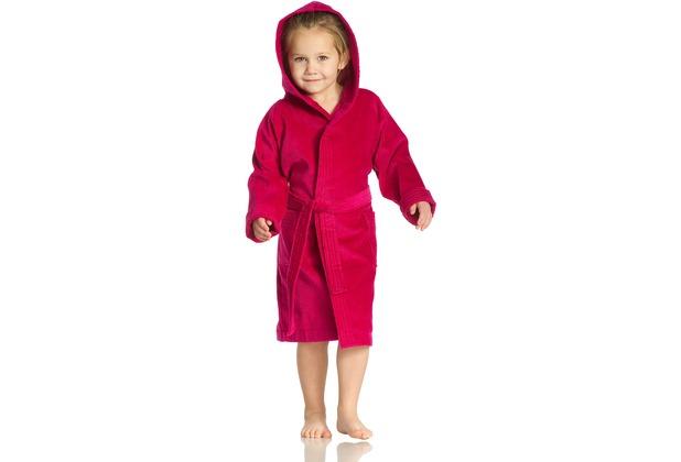 Vossen Velours-Kinderbademantel Texie cranberry 110/116