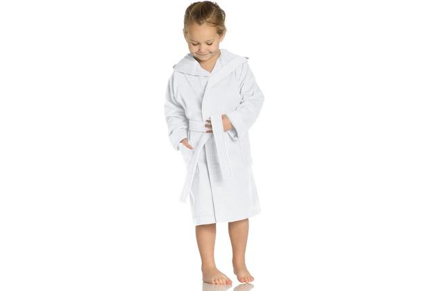 Vossen Velours-Kinderbademantel Texie weiß 110/116