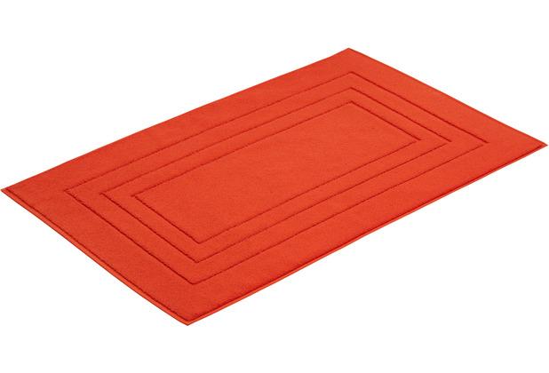 """Vossen Badeteppich \""""Vossen Feeling\"""" flesh red 60 x 60 cm"""