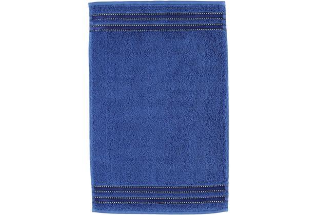 Vossen Frottierserie Cult de Luxe blau Gästetuch 30 x 50 cm
