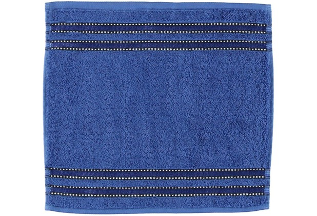 Vossen Handtücher   Cult de Luxe blau Seiflappen 30x30 cm