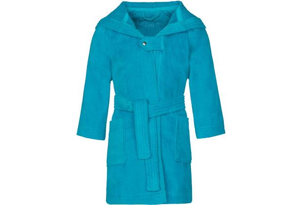 Vossen Velours-Kinderbademantel Texie turquoise 98/104