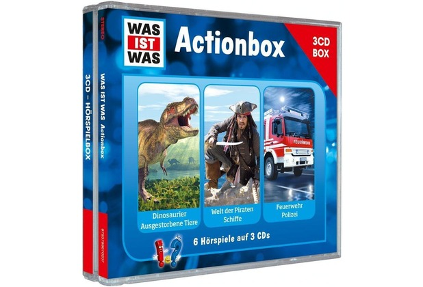 """WAS IST WAS 3-CD-Hörspielbox \""""Action und Abenteuer\"""" Hörspiel"""