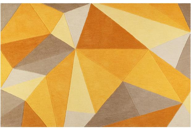 Wecon home Kurzflor-Teppich Next Time WH-4336-05 gelb 70x140