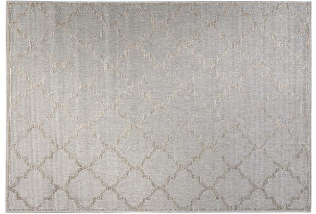 Wecon home Outdoorteppich Gleamy WH-4630-957 silber 80x150