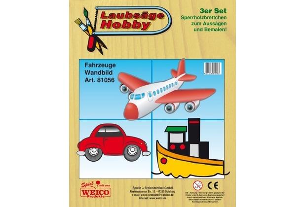 Weico Laubsägev. Auto,Flugzeug,Schiff 3er Se