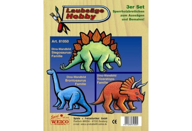 Weico Laubsägevorlage Dinos 3er Set