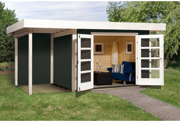 Weka Designhaus 126 A Gr.1, anthrazit, 28 mm, DT, Anbau 150 cm, ohne RW