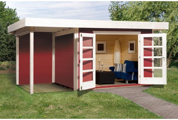 Weka Designhaus 126 A Gr.1, schwedenrot, 28 mm, DT, Anbau 150 cm, ohne RW