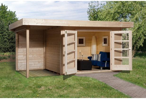 Weka Designhaus 126 A Gr.2, natur, 28 mm, DT, Anbau 150 cm, ohne RW