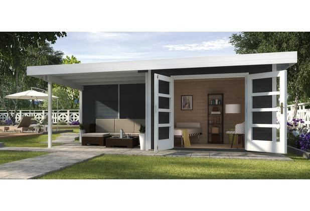 Weka Designhaus 126 B Gr.2, anthrazit, 28 mm, DT, Anbau 300 cm, ohne RW