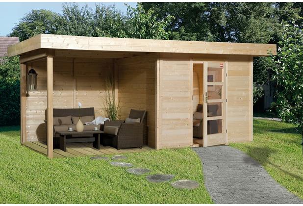 Weka Designhaus 172 B Gr.1, natur, 28 mm, ET, Anbau 300 cm, ohne RW