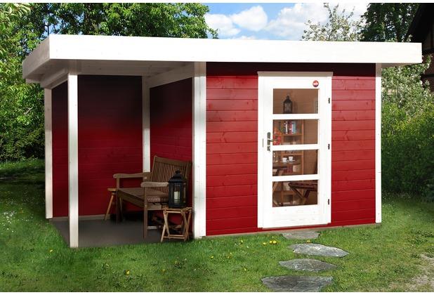 Weka Designhaus 172 A Gr.2, schwedenrot, 28 mm, ET, Anbau 150 cm, ohne RW