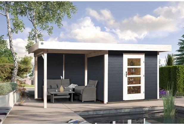 Weka Designhaus 172 B Gr.2, anthrazit, 28 mm, ET, Anbau 300 cm, ohne RW