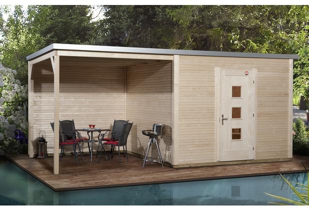 Weka Designhaus wekaLine 413 B Gr.2, natur, 45 mm, ET, Anbau 300 cm