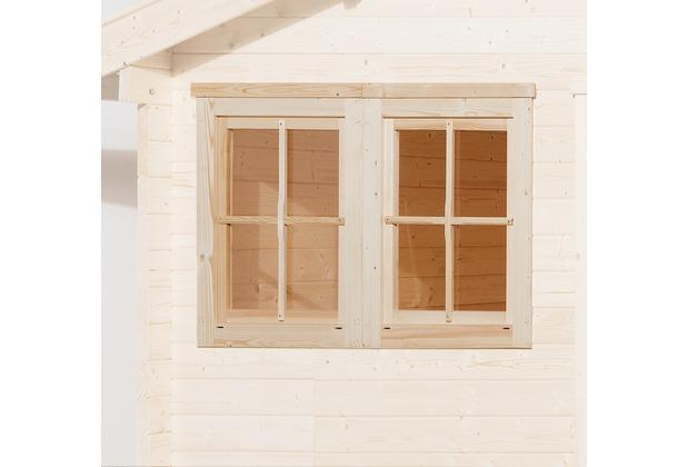Weka Doppelfenster für weka Gartenhaus 21/28 mm, 138x79 cm