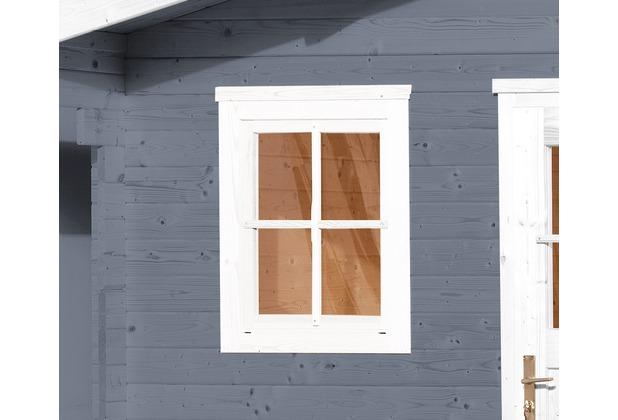 Weka Einzelfenster für weka Gartenhaus 21/28 mm, 69x79cm, weiss