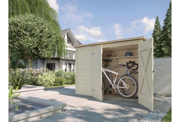 Weka Fahrrad- und Mülltonnenbox, natur, 19 mm