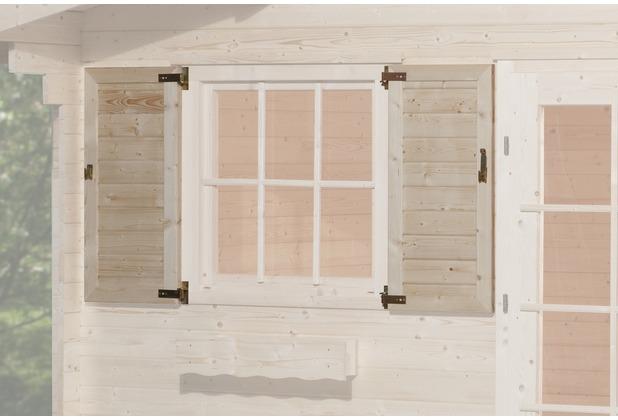 Weka Fensterladen 2-seitig für Fenster 91x91cm