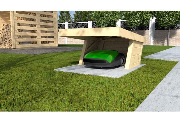 weka flachdach m hrobotergarage ebay. Black Bedroom Furniture Sets. Home Design Ideas
