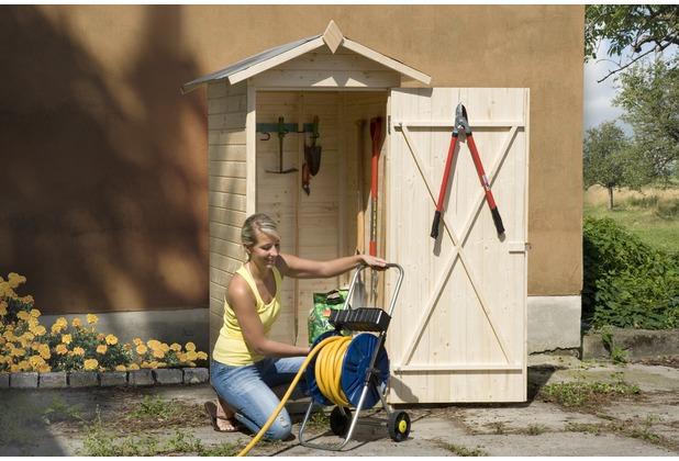 Weka Garten-/Terrassenschrank 351 Gr.1 Satteldach, 14mm, ET