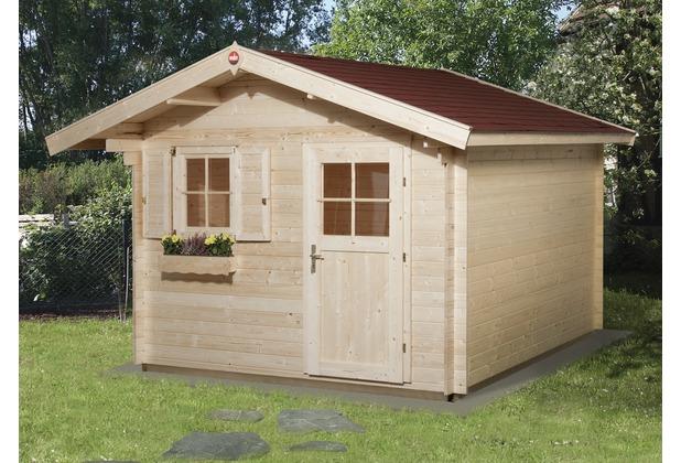 Weka Gartenhaus Premium28 FT, 300 x 300, V60,