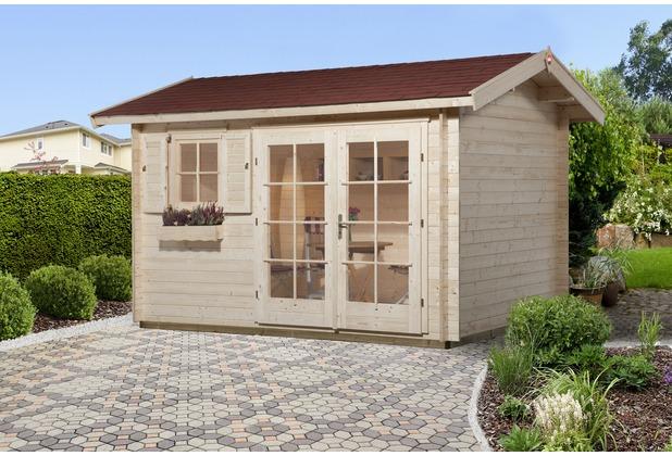 Weka Gartenhaus 163 Gr.1, 28 mm, DT, EF, seitl. Eingang