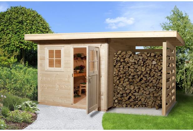 Weka Gartenhaus 170 A Gr.1, 28 mm, ET, EF, Holzlagerplatz 150 cm