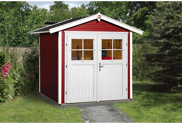 Weka Gartenhaus 224 Gr.1, schwedenrot, 21 mm, DT