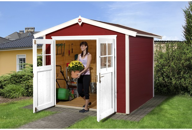 Weka Gartenhaus 224 Gr.3, schwedenrot, 21 mm, DT
