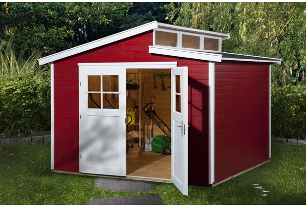 Weka Gartenhaus 226 Gr.4, schwedenrot, 21 mm