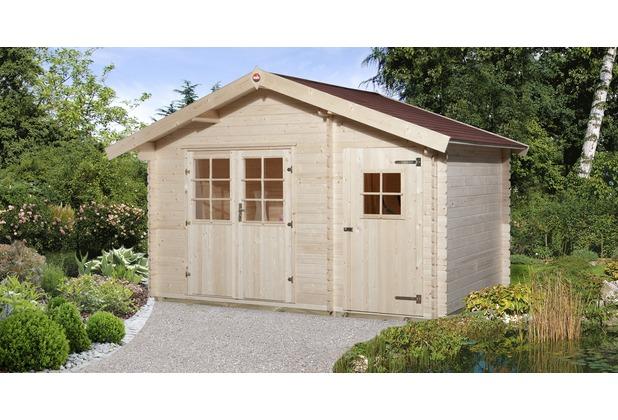 Weka Gartenhaus 253 Gr.1, 28 mm, DT, Nebenraum ET, V50, mit 2. Raum