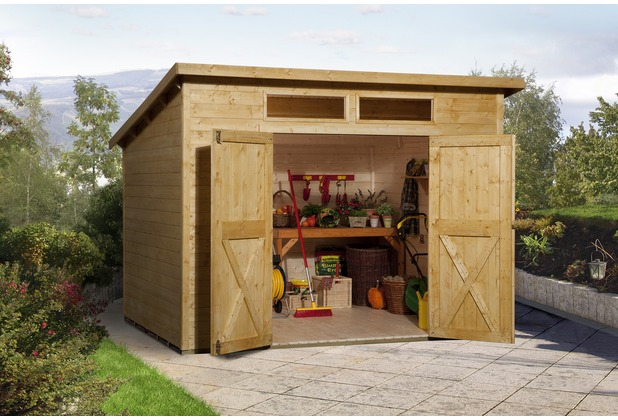 weka gartenhaus 325 a gr 1 lasiert 19 mm. Black Bedroom Furniture Sets. Home Design Ideas