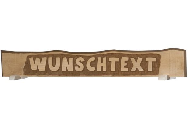 Weka handgeschnitztes Massivholzschild mit individuellem Text, bis zu12 Buchstaben