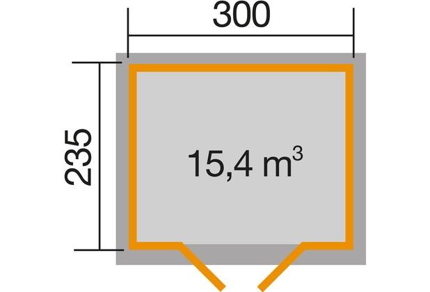Weka Gartenhaus 122 Gr. 4, anthrazit, 28 mm, V20 cm, DT