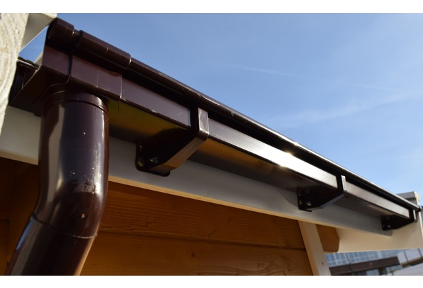 Weka Kastenrinnenset Gr. 4 (1x 6,5 m) für Flachdachhäuser mit Anbau