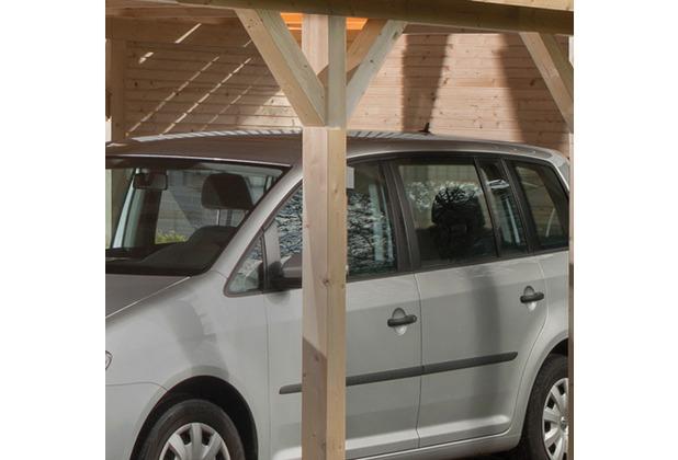 Weka Rückwand wekaLine für Carports, natur, 28 mm
