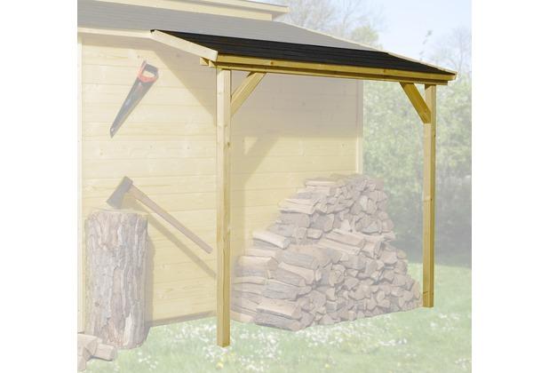 Weka Schleppdach für 19 und 21 mm, 80 x 200 cm, lasiert