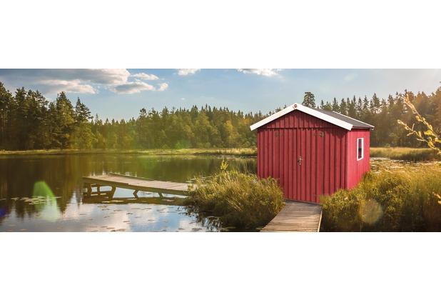 Weka Schwedenhaus Gr.3, sägerauh, schwedenrot, breite DT, F,