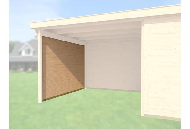 Weka Seitenwand 21 mm, für Haustyp 126 und 172 + 225 natur, Tiefe 295 cm