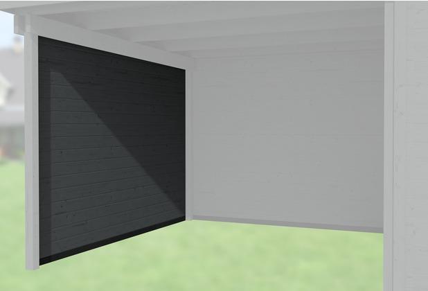 Weka Seitenwand 21 mm, für Haustyp 126 und 172 anthrazit, Tiefe 235 cm